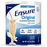 Cheap Ensure Original Nutrition Powder with 8 grams of protein, Meal Replacement, Vanilla, 6 count