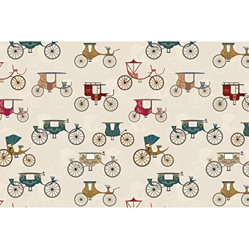 ArtzFolio Antique Carriages Art & Craft Gift Wrapping Paper 18 x 12inch;Set of 10 PCS