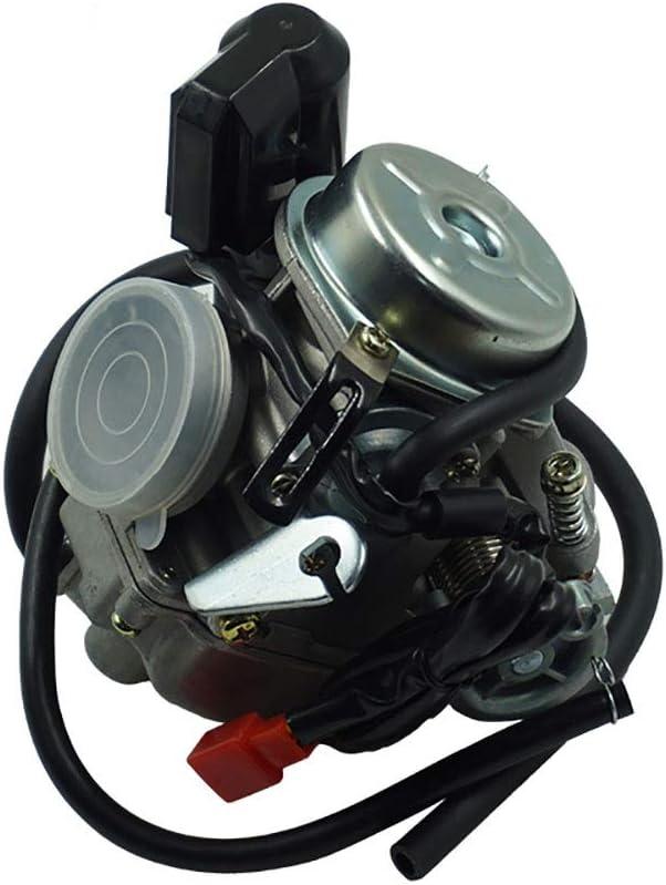 RONGLINGXING Repuesto Repuesto universal Reparación Motocicletas Piezas Scooter 24mm 125 150CC GY6 Motocicleta Carb Carburador Para Ciclomotor ATV Go Kart Roketa Sunl Tank (Color : Negro)