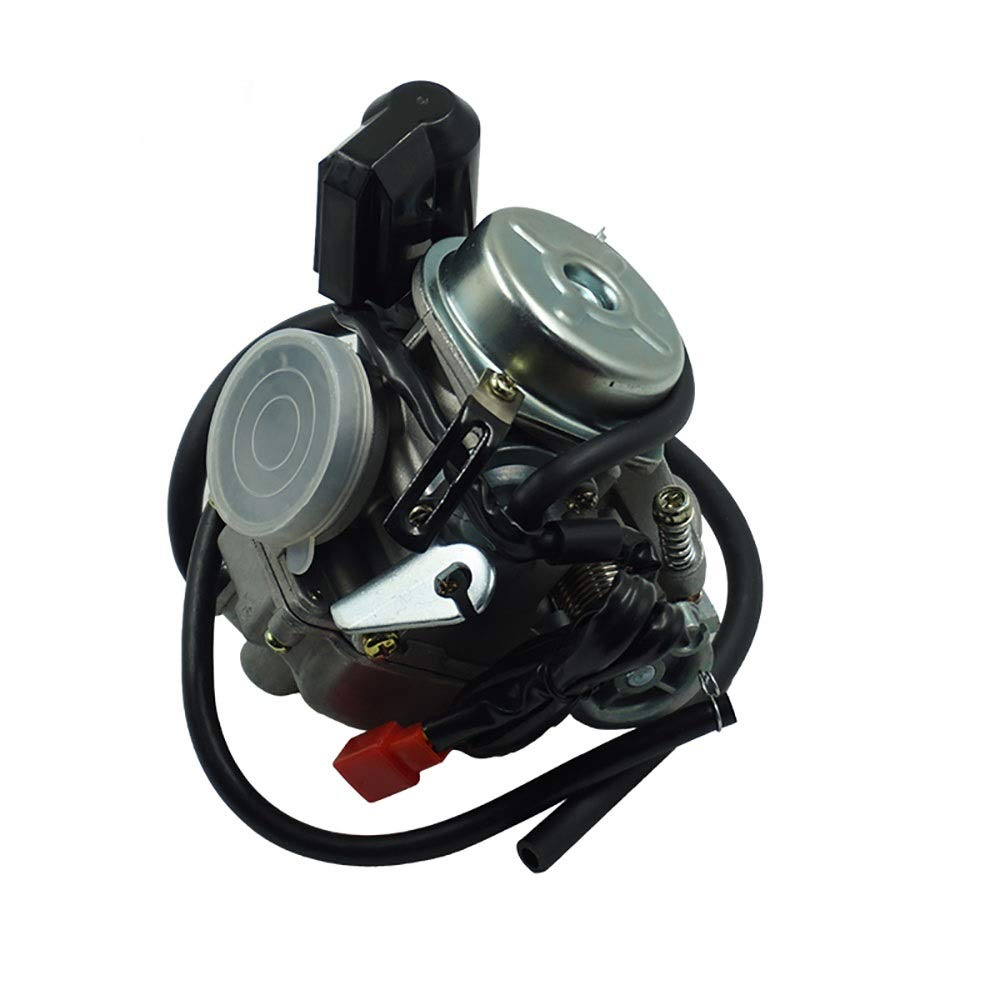 Kaixinuo Scooter 24mm 125 150CC GY6 Motorcycle Carb Carburetor for Moped ATV Go Kart Roketa Sunl Tank (Color : Black)