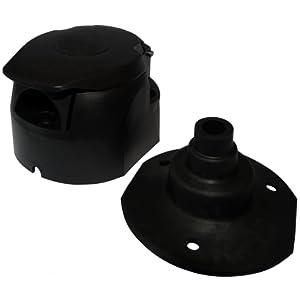 Aerzetix: Fiche femelle 7pin prise connecteur de remorque 7 broches 12V C12382 attelage faisceau câble câblage feux arrières stop