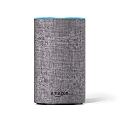 Amazon Echo Decorative Shell (fits Amazon Echo 2nd Generation only), Heather Grey Fabric