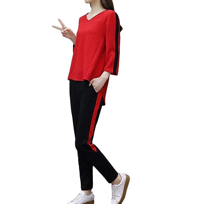 Chándal Mujer Gimnasia Pijama 2 Piezas Sudadera + Pantalones ...