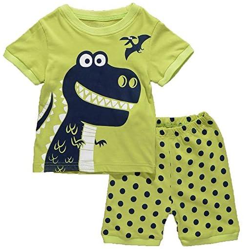 Milanao-Boys-2-pezzi-100-cotone-maglietta-Pajama-Set-2T-Pantaloni-taglia-7