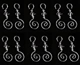 96 Swirled 3 Inch Christmas Ornament Clear Beaded Decoration Hooks
