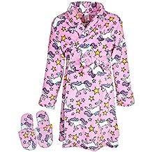 Sleep & Co Big Girls Fleece Robe Slippers Set
