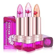 TOPBeauty Jelly Flower Lipstick Waterproof Long Lasting Lip Balm Color Change Magic Matte Jelly Lipstick 3 Colors Set