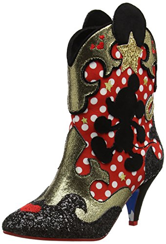 Irregular Choice Hot Diggety Dog - Botas de vaquero Mujer Red (Red/White/Black)
