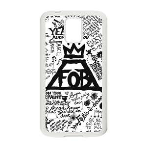 Fall Out Boy Arte Lírico caso G8J16B8EE funda Samsung Galaxy S5 funda 56B560 blanco