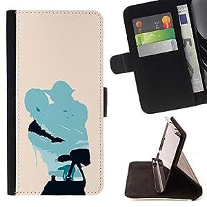 KingStore / Leather Etui en cuir / Sony Xperia Z3 Compact / Minimalista Estrella Guerra Yoda y Lucas