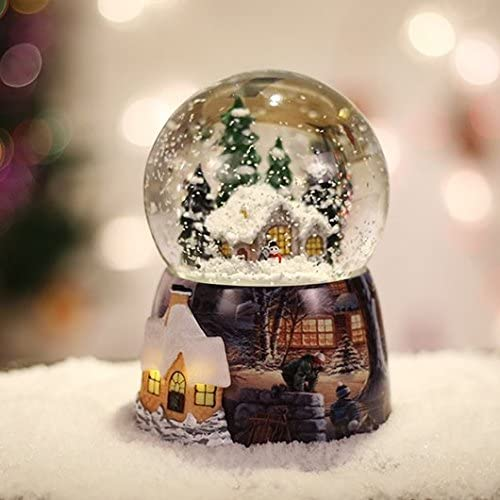 YYHKYB® Snow ball bola de cristal caja de música spinning luces ...