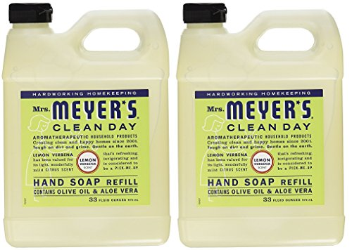 Mrs. Meyers Liquid Hand Soap Refill MsEswd, 33 Oz, 2Pack (Lemon Verbena) ()