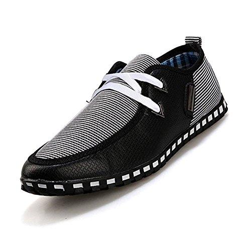 Eur Nero 41 Shoes Imbardata 5 Formato Tagliandi Toogoo 8 Uk7 us Grigio Tesse Eleganti Mocassini Uomini 41 Driving r Tela Scorrevoli 06wq1HSP