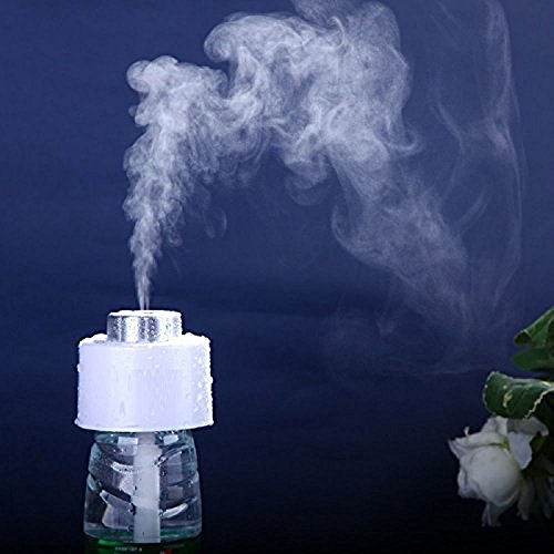 Enshey Ultrasonic USB Humidifier Mini Air Diffuser Cool Mist Portable Aroma Humidifier with Water Bottles Car Air Purifier Steam Diffuser Travel Humidifying Device for Travel Office Car Baby Bedroom by Enshey