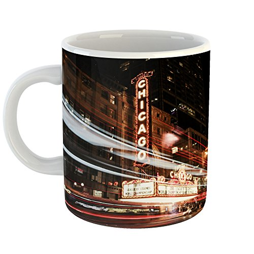 Westlake Photography - Coffee Cup Mug - Chicago's Essex - Modern Picture Photography Artwork Home Office Birthday Gift - 11oz (69m - Hotel Downtown Inn