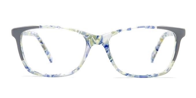 ced5752611 Amazon.com  TIJN Subtle Acetate Floral Cat-eye Modern Eyeglasses for Women   Clothing