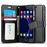 Huawei Honor 8 Case, J&D [Wallet Stand] [Slim Fit] Heavy Duty Protective Shock Resistant Flip Cover Wallet Case for Huawei Honor 8 - Black