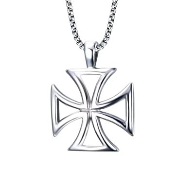 Amazon stainless steel the knights templar cross pendant stainless steel the knights templar cross pendant necklace for men and boys aloadofball Image collections