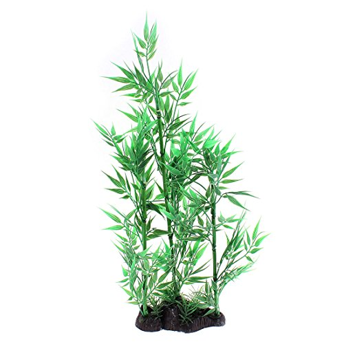 uxcell Aquarium Simulation Aquatic Bamboo Leaves Plant Decoration 36cm Height by uxcell