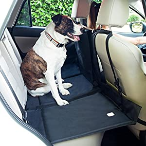 FrontPet Backseat Pet Bridge, Dog Car Back-Seat Extender Platform, Seat Cover Divider Barrier, Ideal for Trucks, SUVs, and Full Sized Sedans 66