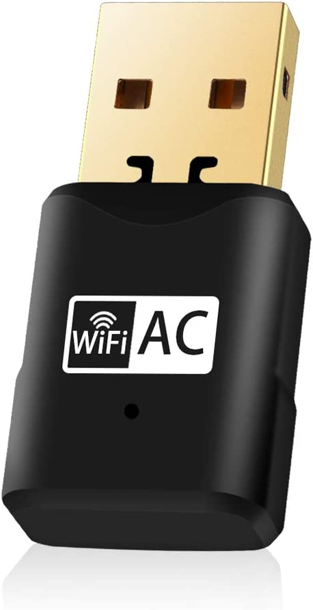 Aigital Adaptador WiFi USB, 600Mbps Driver Free Receptor WiFi Dongle Inalámbrico con Doble Banda AC,Seguridad Avanzada para PC/Desktop/Laptop,Soporte Windows 10/8 /8.1/7 /Vista/XP/MacOS