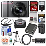 Panasonic Lumix DMC-ZS100 4K Wi-Fi Digital Camera (Silver) with 64GB Card + Case + Flash + Battery & Charger + Tripod + Strap + Kit Review