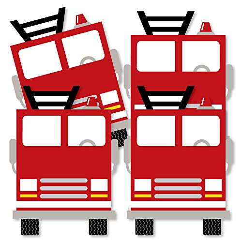 - Fired Up Fire Truck - Decorations DIY Firefighter Firetruck Baby Shower or Birthday Party Essentials - Set of 20