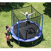 Airzone 8' Trampoline Combo with Netting Enclosure (Blue)