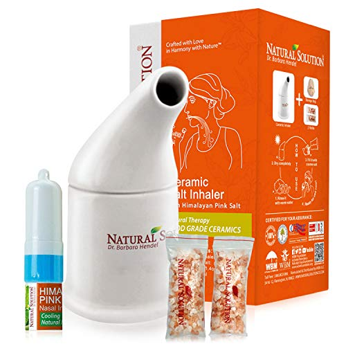 51kTRDk5ViL - Natural Solution Organic Personal Care Travel Gift Set 2 Items | Nasal Inhaler and Ceramic Salt Inhaler