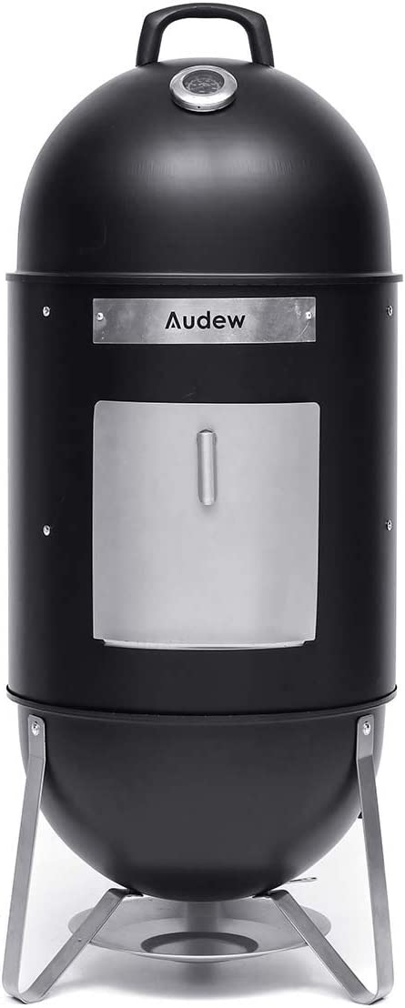 Audew Charcoal Smoker Grill Outdoor, 18 Smokey Mountain Cooker Meat Smoker with Heat Control 2 Cooking Racks for BBQ Outdoor Picnic Camping