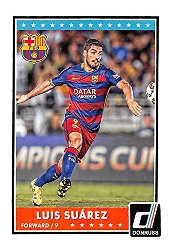 Luis Suarez trading card (Uruguay Soccer Barcelona) 2015 Donruss  70 ... 67c711f31