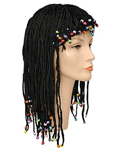 Cleo Barg Beaded Wig, Black, One Size