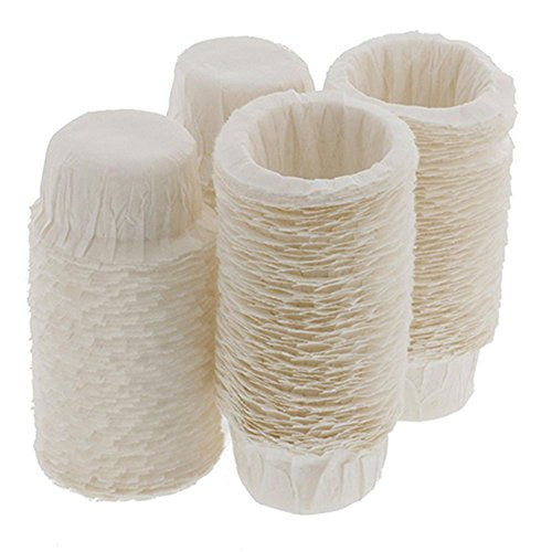 Yamalans 100pcs Disposable Paper Filters Cups Replacement Coffee Filters,2.56 x 1.38 x 1.30 inches