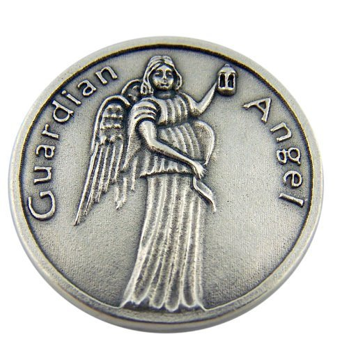 Guardian Angel Medal Be At My Side to Light and Guard Pocket Token