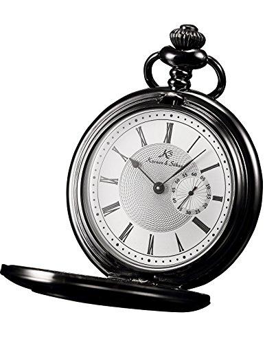 HELMASK pocket watch - Alloy Black Round man mens Analog quartz Half hunter Pocket Watch by HELMASK COLLECTION (Image #7)