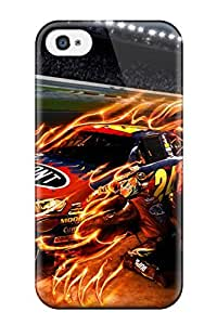 Iphone 4/4s Case Cover - Slim Fit Tpu Protector Shock Absorbent Case (jeff Gordon)