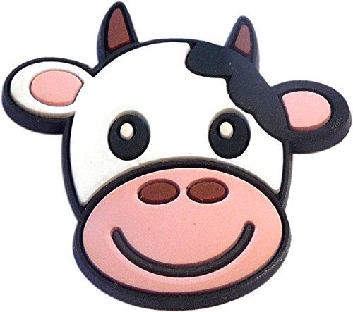 Cute Cow Rubber Charm Jibbitz Croc Style