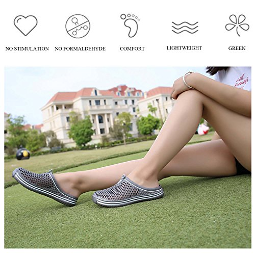 Grey Men's Hmaibo Water Garden Sandals Women's Mule Slippers Breathable Shoes Clogs Footwear q4pwPIxqO
