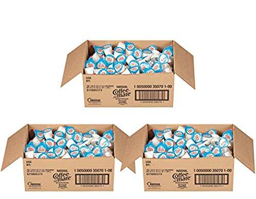 NESTLE COFFEE-MATE Coffee Creamer, French Vanilla, liquid creamer singles, Pack of 180 (3 Pack)