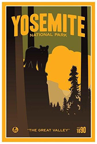 Yosemite National Park The Great Valley Travel Art Print Poster by Matt Brass (12