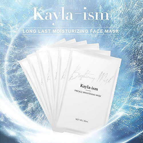 51kTUubXMWL - Kayla-Ism Facial Mask | Repairing Skin in 28 days | Collagen Mask Sheet with Jasmine essence| Long last Moisturizing Face Mask | Anti Aging Brightening Face Sheet Mask | Natural Face Mask Pack