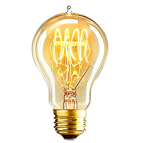 on Light Vintage Bulbs Dimmer Filament Antique Base (E26/E27) 40W (Light Flute Round Pendant)