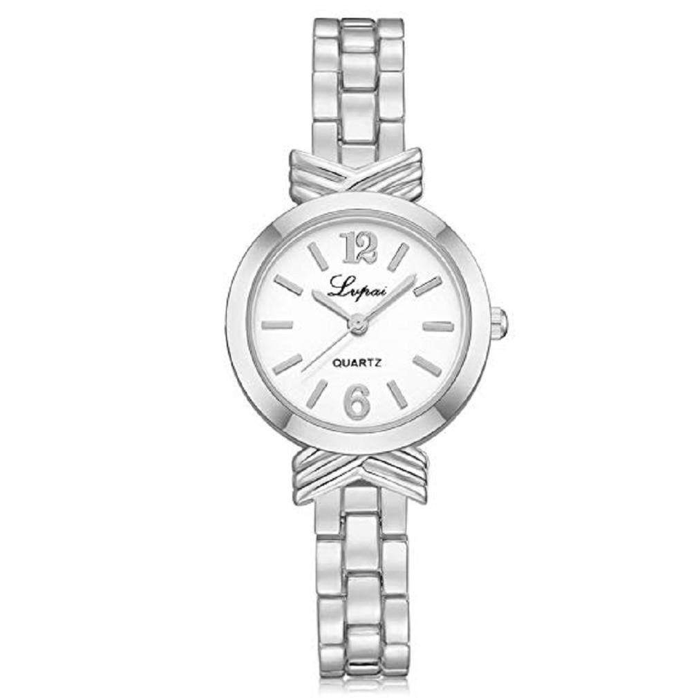 Amazon.com: Windoson Womens Quartz Watch Ladies Casual Bracelet Stainless Steel Wrist Watches (B): Electronics