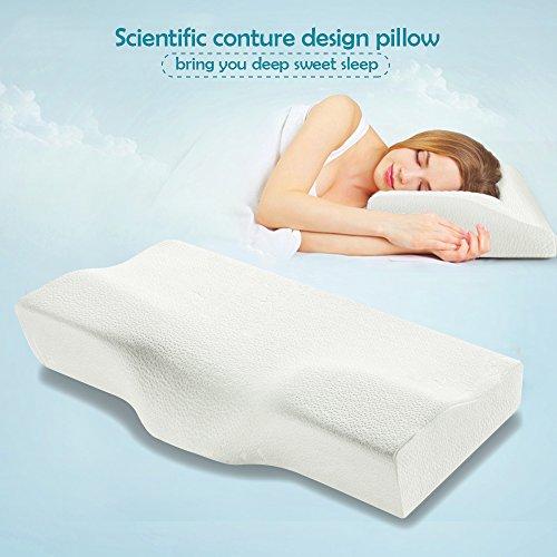 Memory Foam Pillow Nclinglu Ergonomic Design Cervical