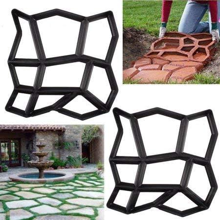 INTERHOME Molde Formar para Caminos Pavimentar Armar Patios Pavimentación Jardín Cemento - 2 Pcs: Amazon.es: Jardín