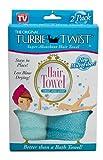Kyпить Turbie Twist Microfiber Hair Towel (2 Pack) Light Aqua - Dark Aqua на Amazon.com