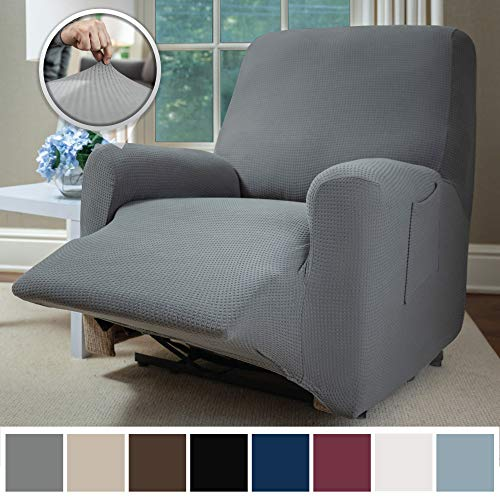 Sofa Shield Original Fitted 1 Piece Recliner Slipcover, Soft Stretch Material, Seat Width Up to 28