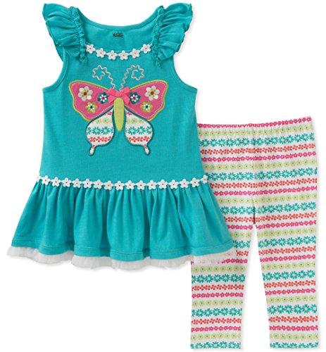 Kids Headquarters Baby Girls Tunic Set - Sleeveless, Turquoise/Print, 12M
