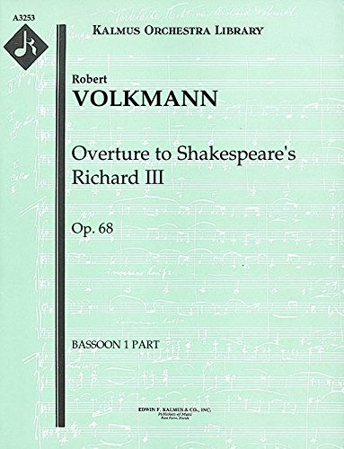Overture to Shakespeare's Richard III, Op.68: Bassoon 1 and 2 parts (Qty 2 each) [A3253]