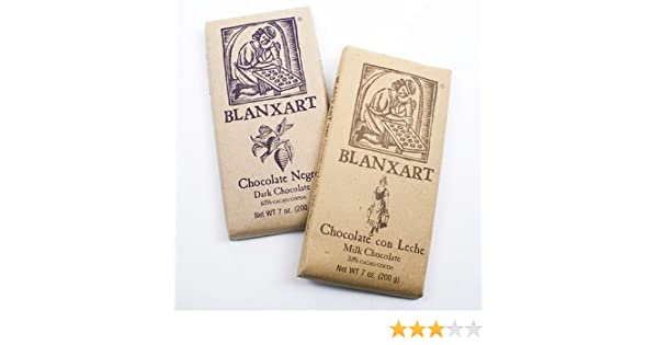 Amazon.com : Chocolate Bar by Blanxart - Dark Chocolate (7 ounce) : Candy And Chocolate Bars : Grocery & Gourmet Food